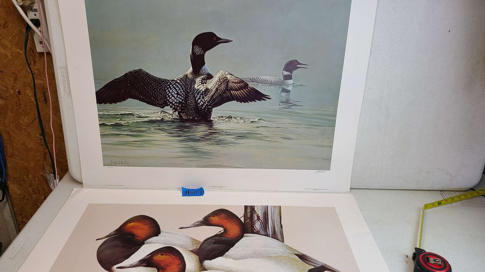 """Lot # 217 """"Jewels of the Lake"""" and """"River Cans"""" Signed & Numbered Lithograph"""