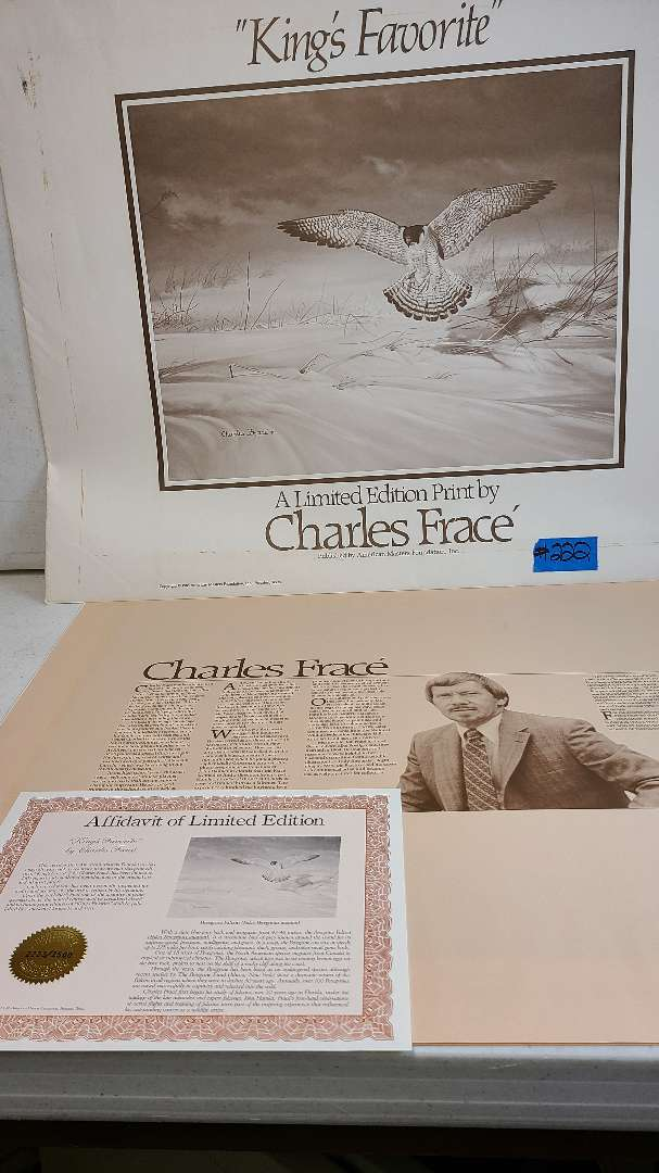 """Lot # 222 Limited Edition """"Kings Favorite"""" by Charles France Signed & Numbered Lithograph w/ CoA"""