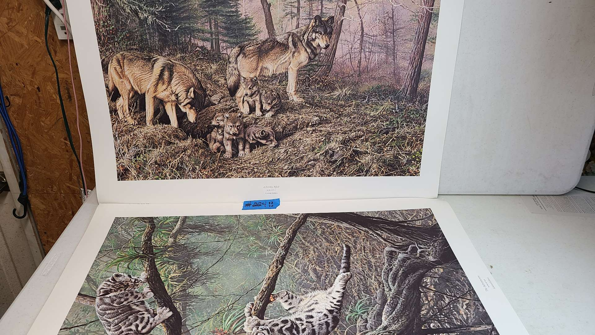 """Lot # 224 """"A Family Affair"""" and """"The Adventurers"""" by Alan Hunt Signed & Numbered Lithograph (X2 of Each)"""