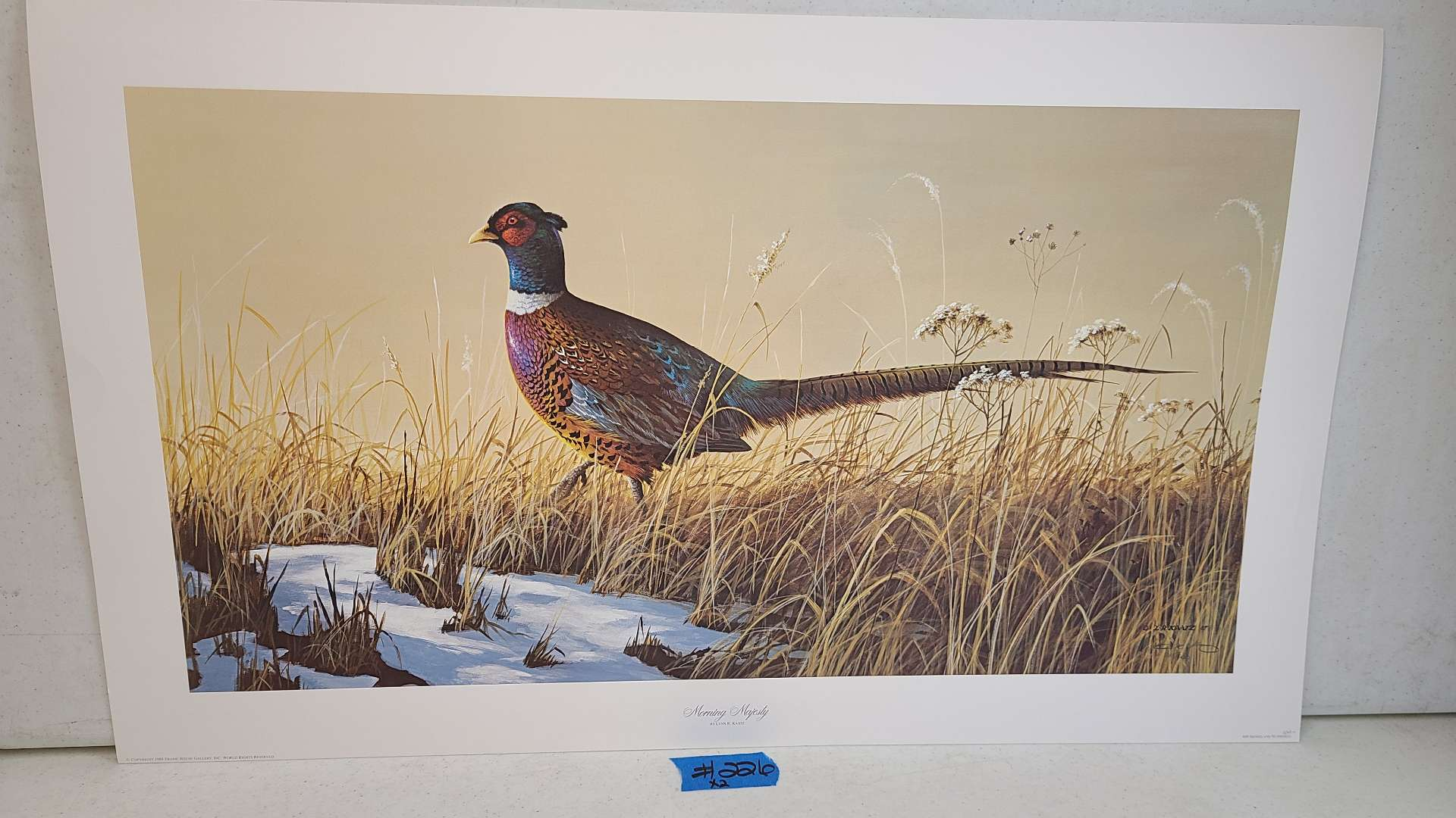 """Lot # 226 """"Morning Majesty"""" by L.R. Kaatz Signed & Numbered Lithograph"""