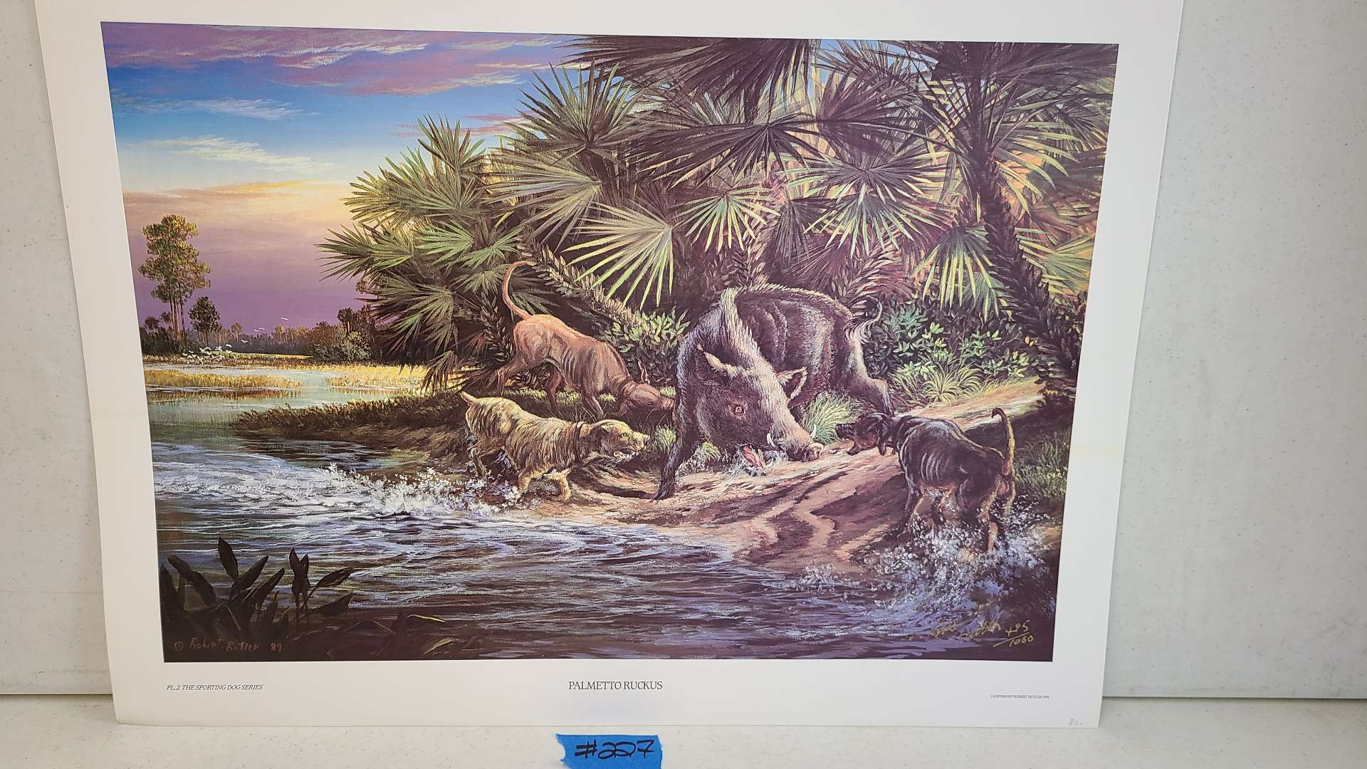 """Lot # 227 """"Palmetto Ruckus"""" by Robert Butler Signed & Numbered Lithograph"""