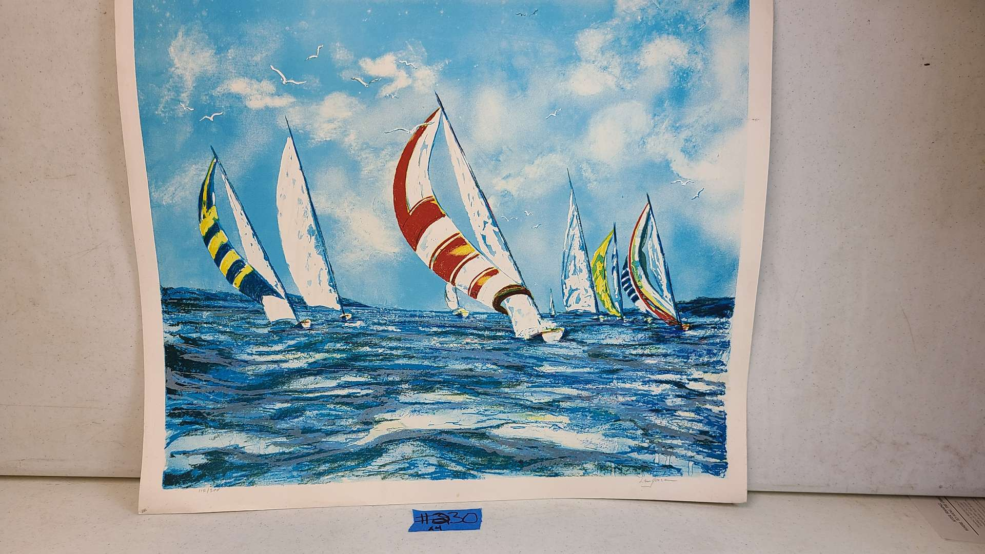 Lot # 230 Signed & Numbered Boat Lithograph (X4)
