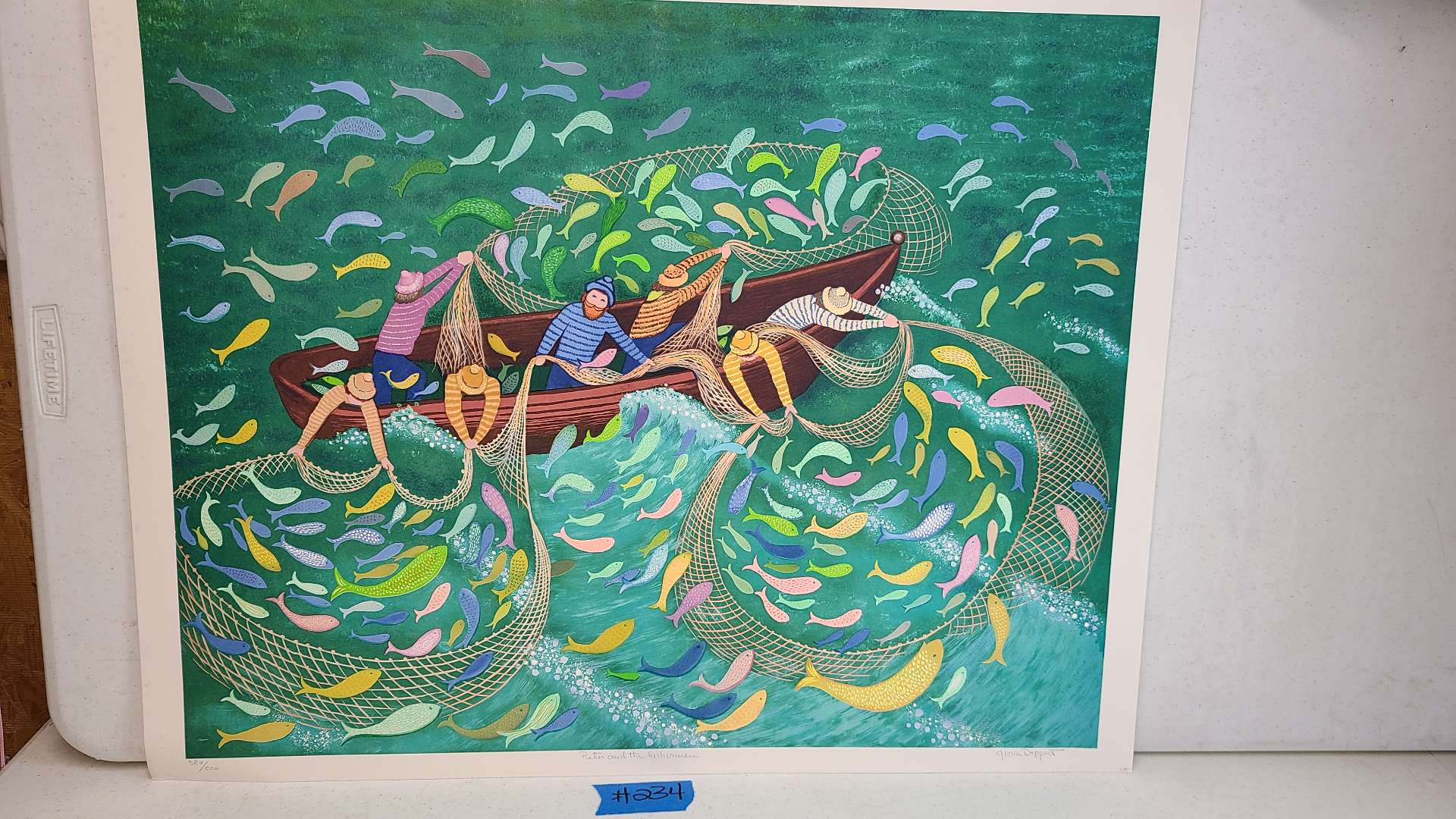 """Lot # 234 """"Peter and the Fisherman"""" by Gloria Deppert Signed & Numbered Lithograph"""