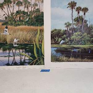 Auction Thumbnail for: Lot # 236 Lot of 3 Neil Adamson Signed & Numbered Lithographs