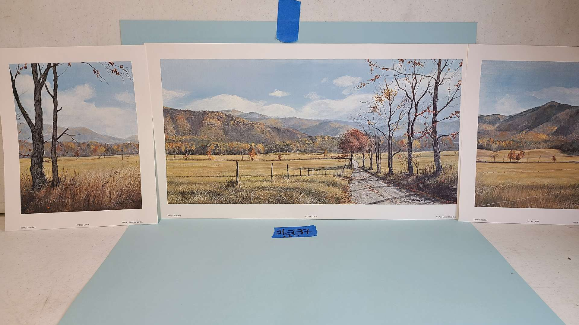 """Lot # 237 """"Cades Cove"""" by Terry Chandler Signed & Numbered Lithograph"""