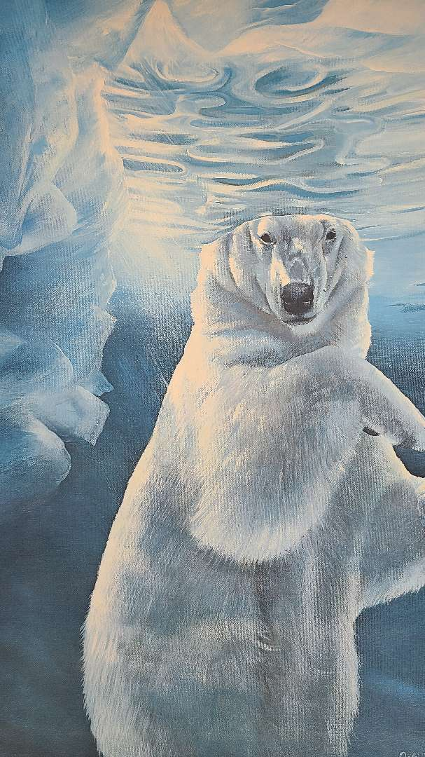 """Lot # 240 """"Polar Ice"""" by Debi Fitzgerald Signed & Numbered Lithograph"""