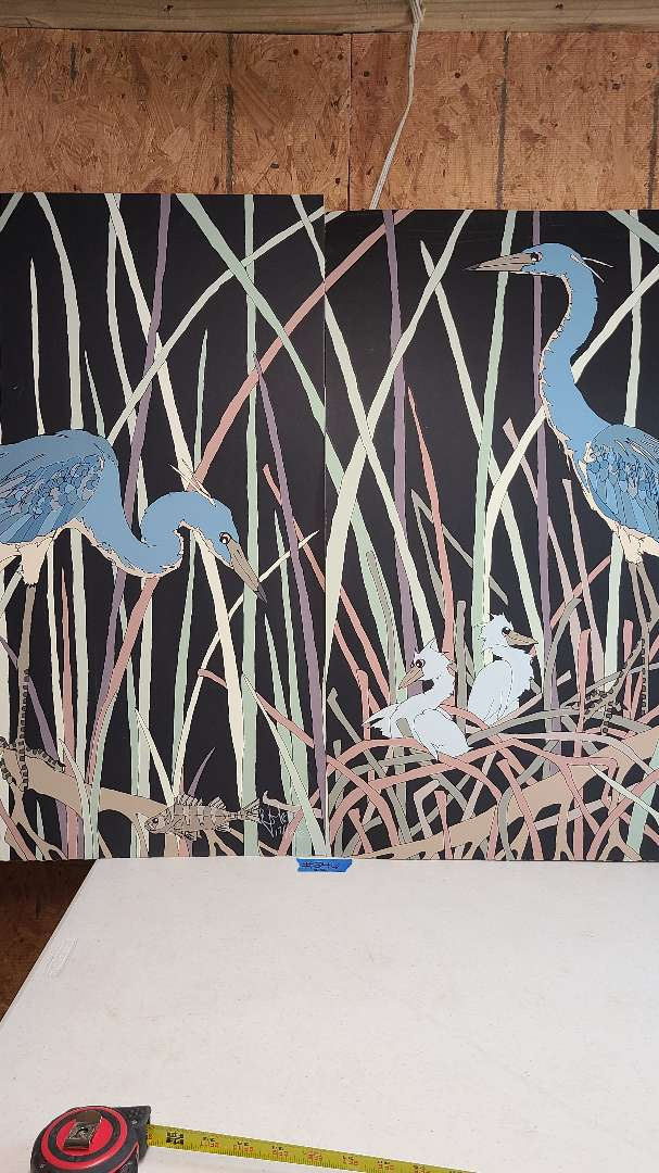 Lot # 246 Signed & Numbered Stork Lithograph (X2)