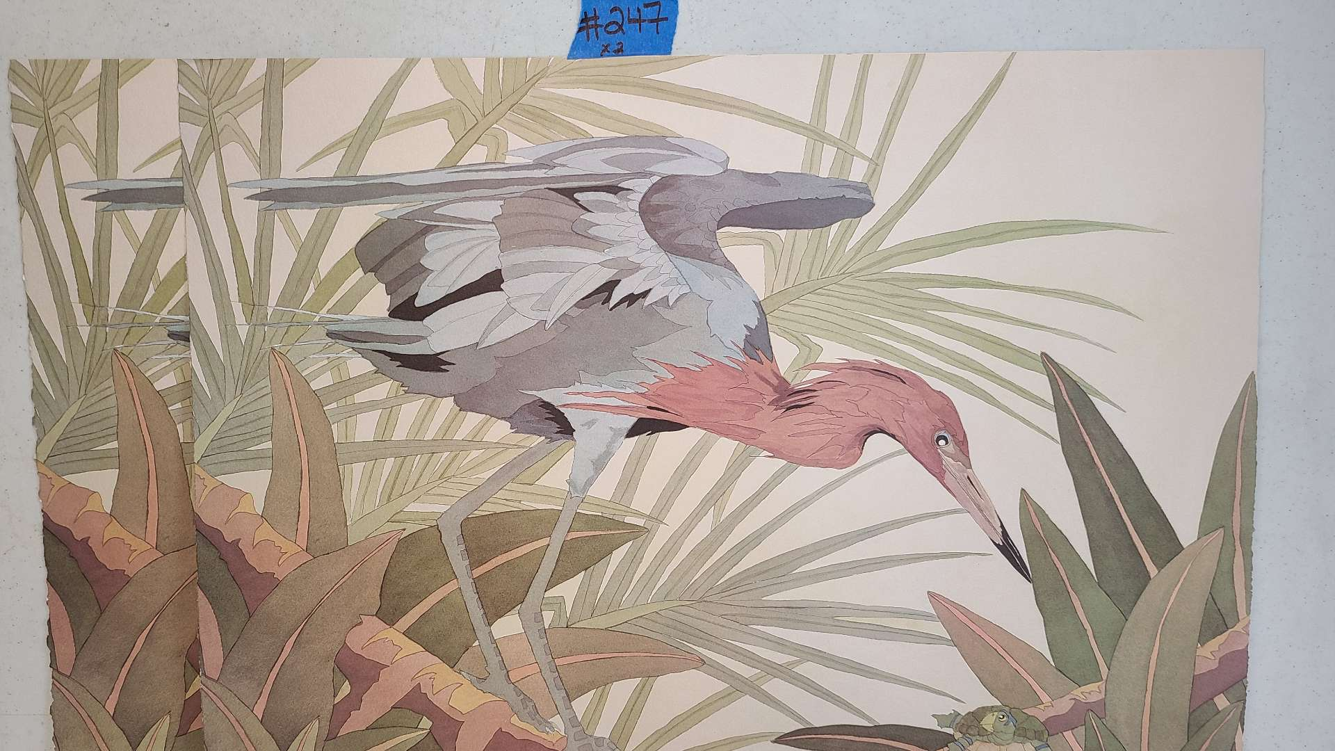 Lot # 247 Signed & Numbered Stork Lithograph (X2)