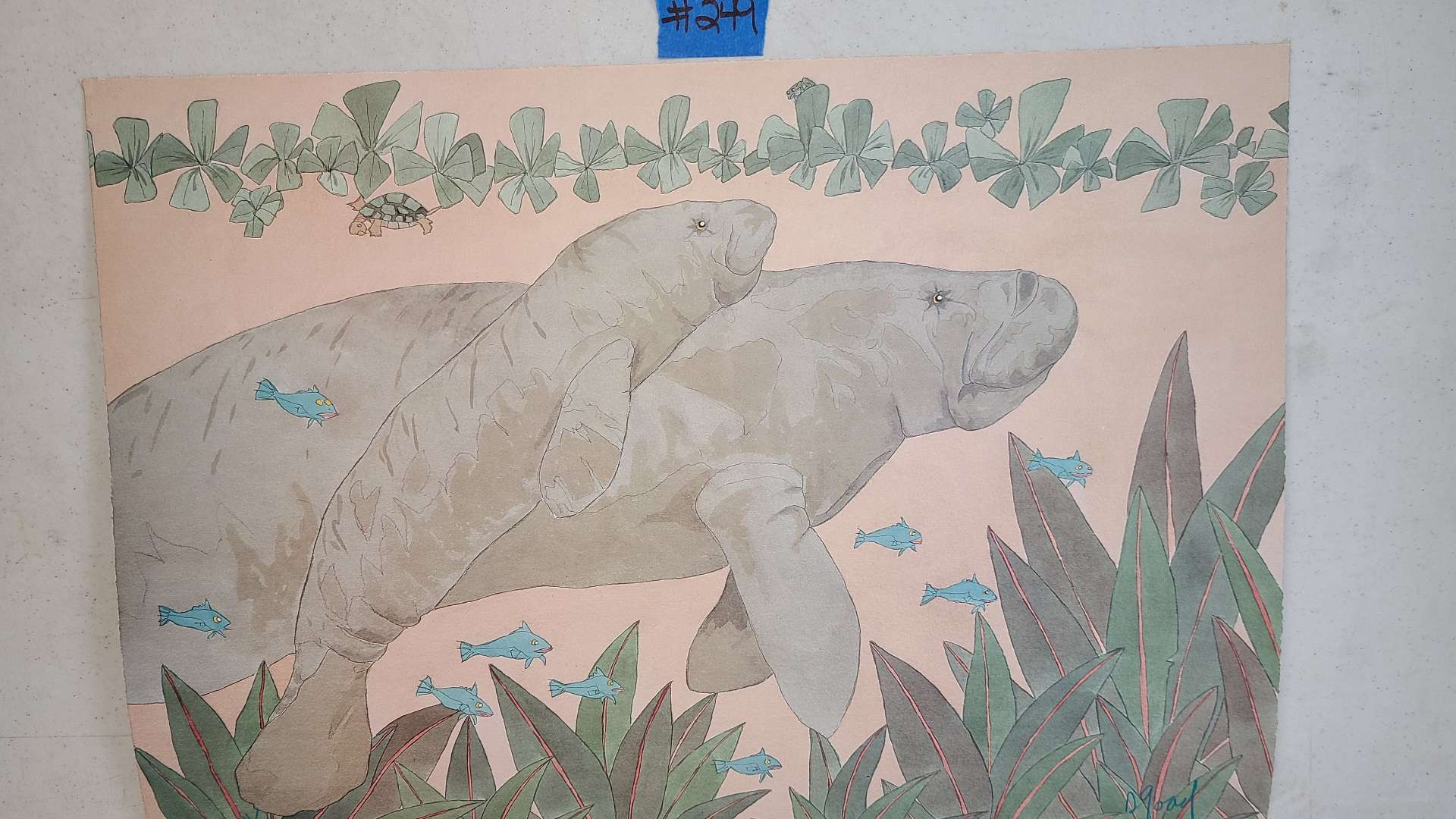 Lot # 249 Signed & Numbered Manatee Lithograph