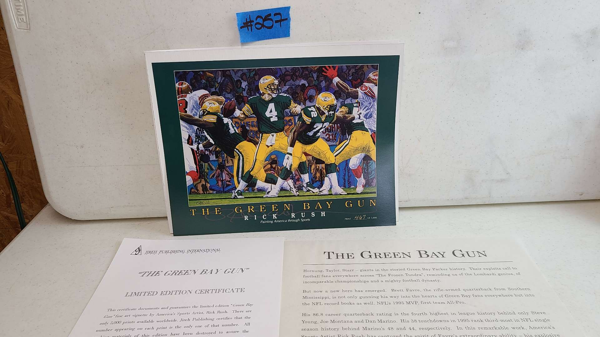"""Lot # 257 """"The Green Bay Gun"""" By Rick Rush Limited Ediyion Signed & Numbered Print"""