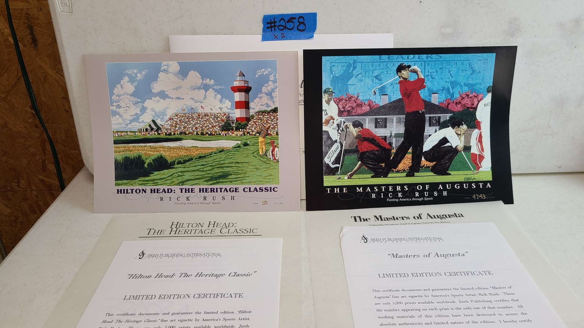 """Lot # 258 """"Masters of Augusta"""" & """"Hilton Head: The Heritage Classic"""" By Rick Rush Limited Edition Signed & Numbered Print"""