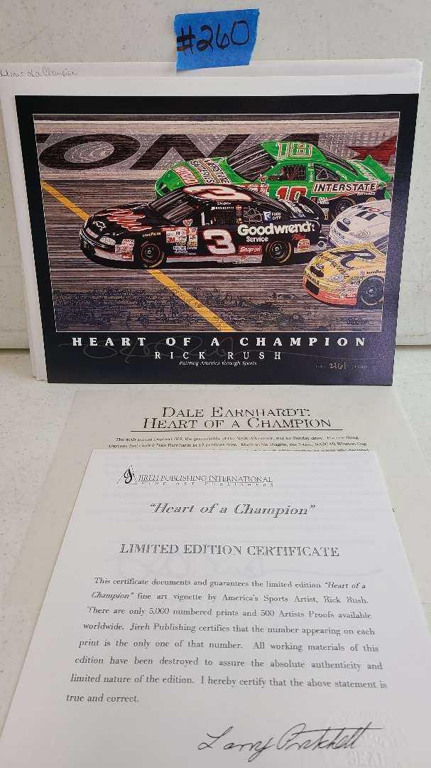 """Lot # 260 """"Heart of A Champion"""" By Rick Rush Limited Edition Signed & Numbered Print"""