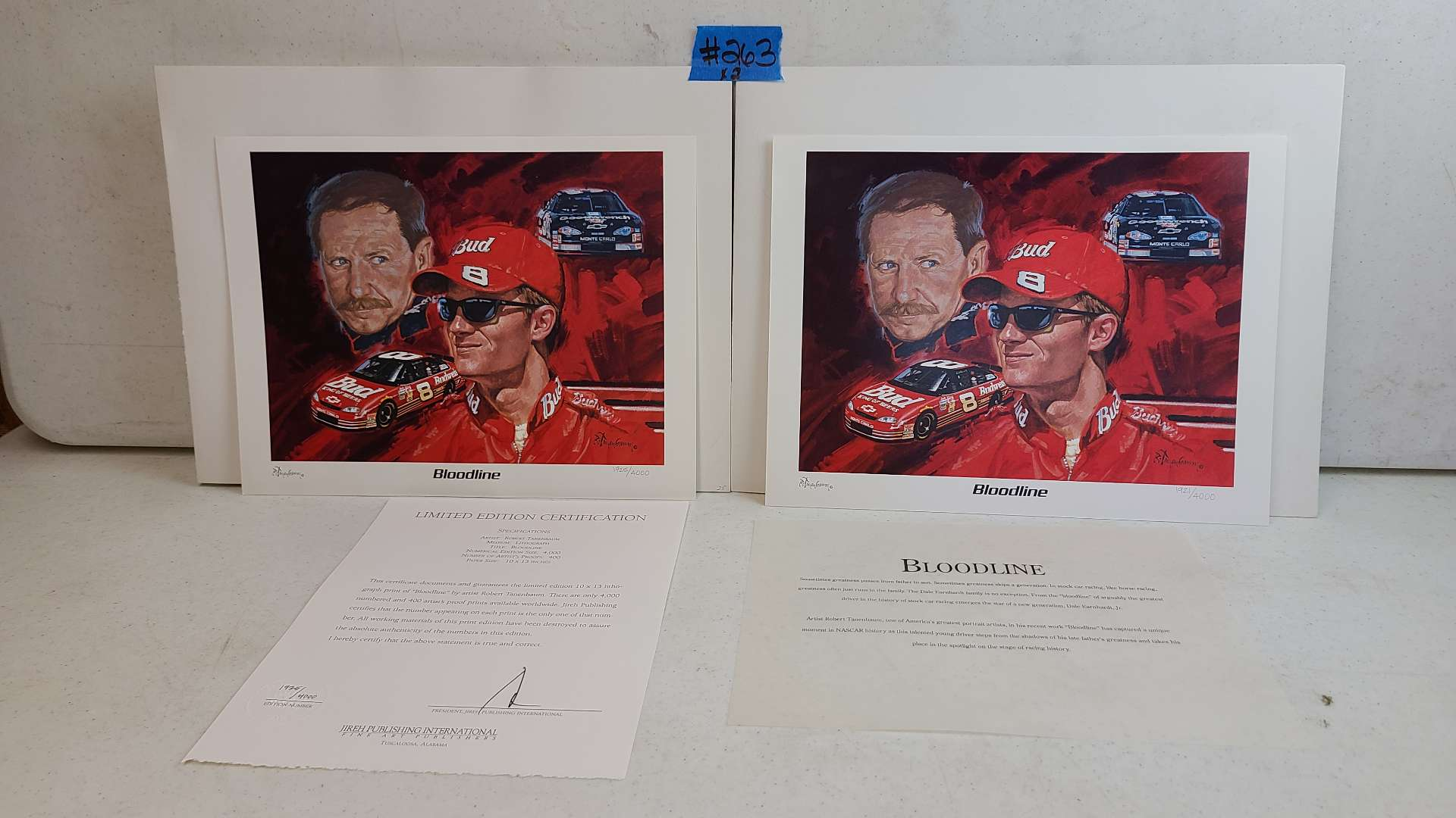 """Lot # 263  """"Bloodline"""" By Robert Tanenbaum Limited Edition Signed & Numbered Print (X2)"""