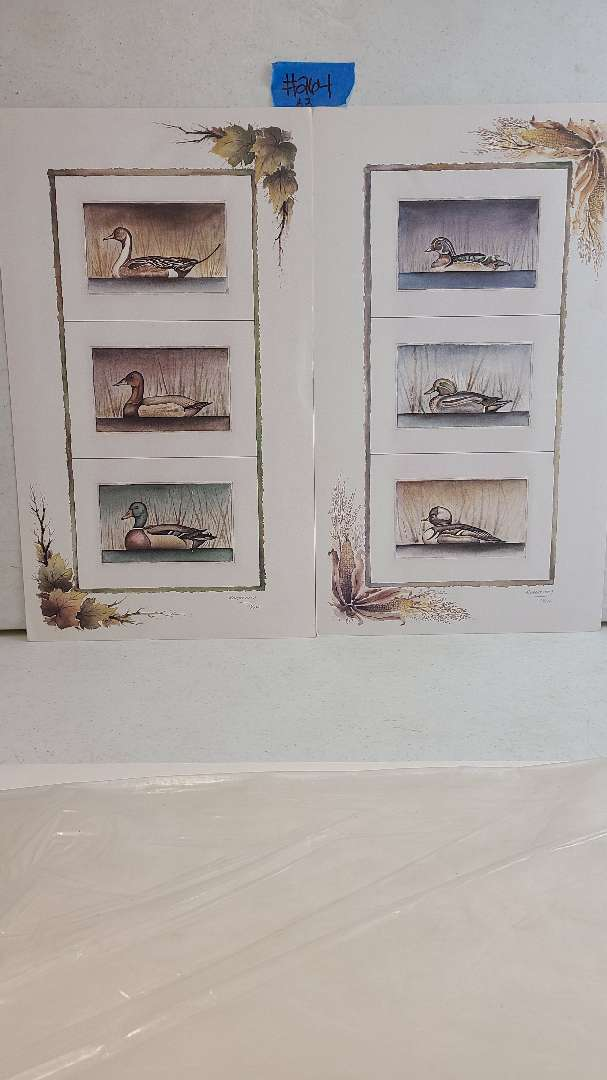 Lot # 264 Lot of 2 Duck Inspired Signed & Numbered Lithographs