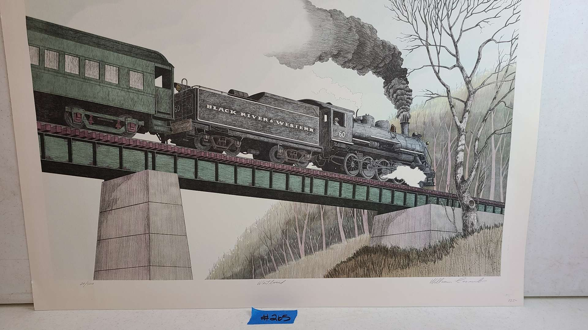 """Lot # 265 """"Westbound"""" By William Loom Signed & Numbered Lithograph"""