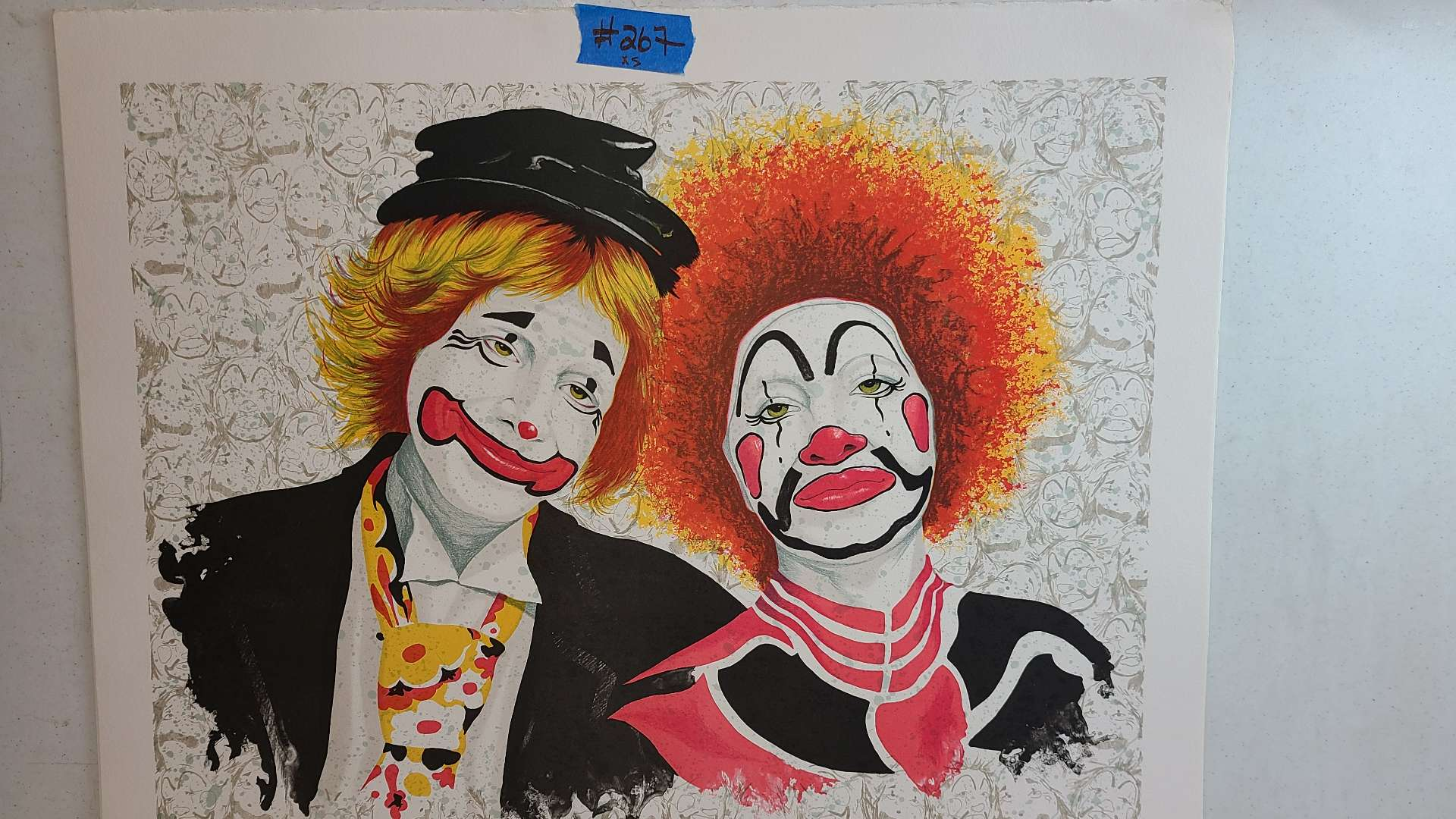 Lot # 267 Clown Inspired Signed & Numbered Lithograph (X3)
