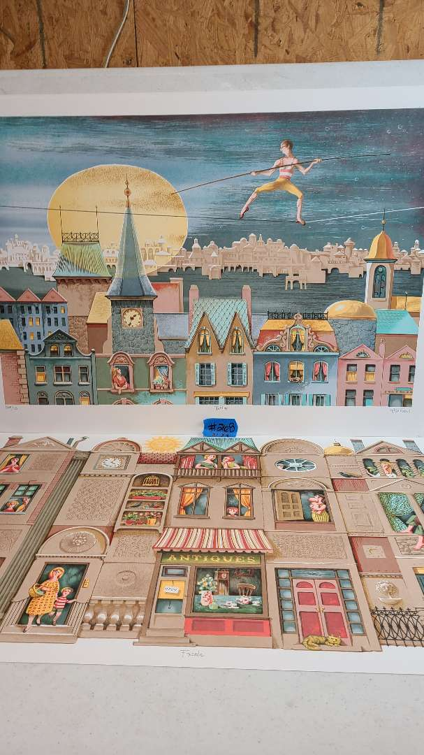 Lot # 268 Lot of 2 Building Inspired Signed & Numbered Lithographs