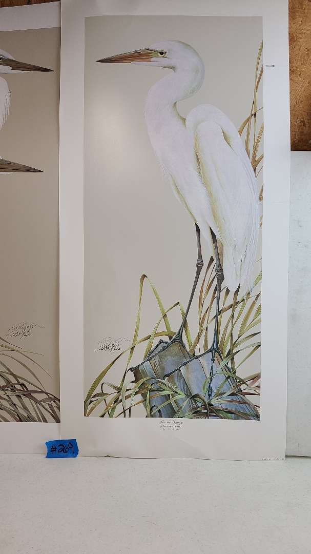 Lot # 269 Lot of 2 Stork Inspired Signed & Numbered Lithographs