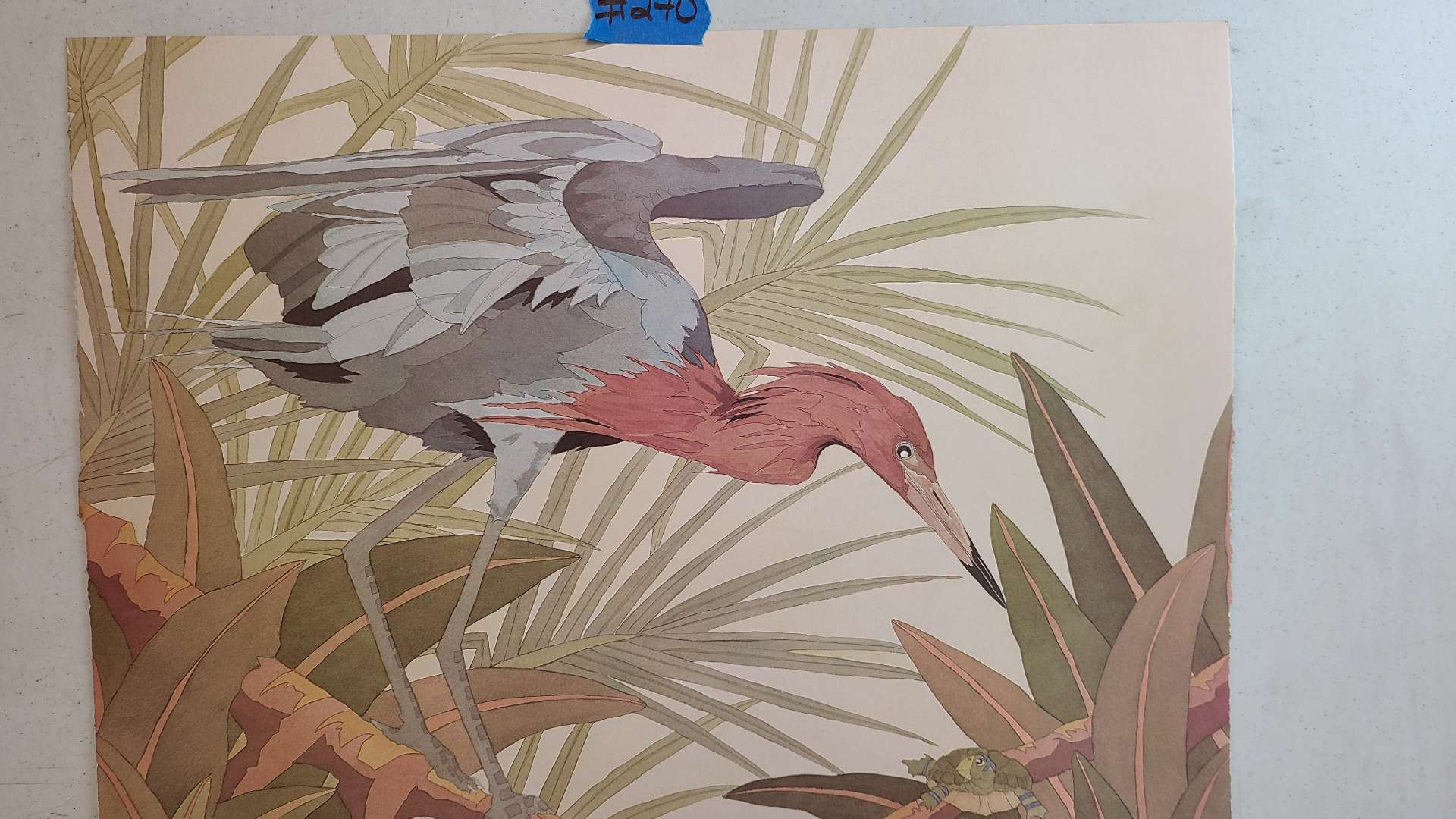 Lot # 270 Stork Themed Signed & Numbered Lithograph