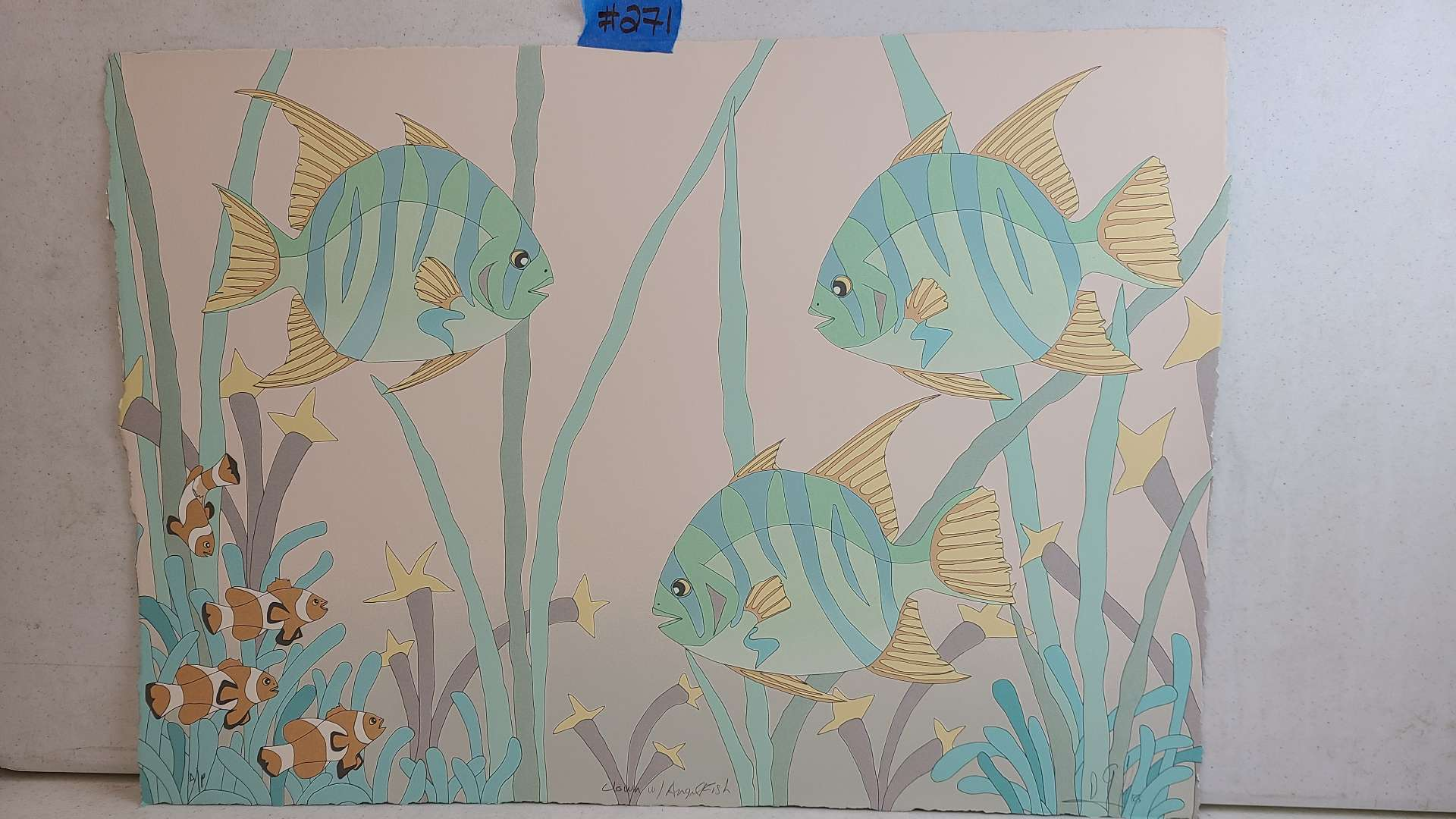 Lot # 271 Ocean Themed Signed & Numbered Lithograph