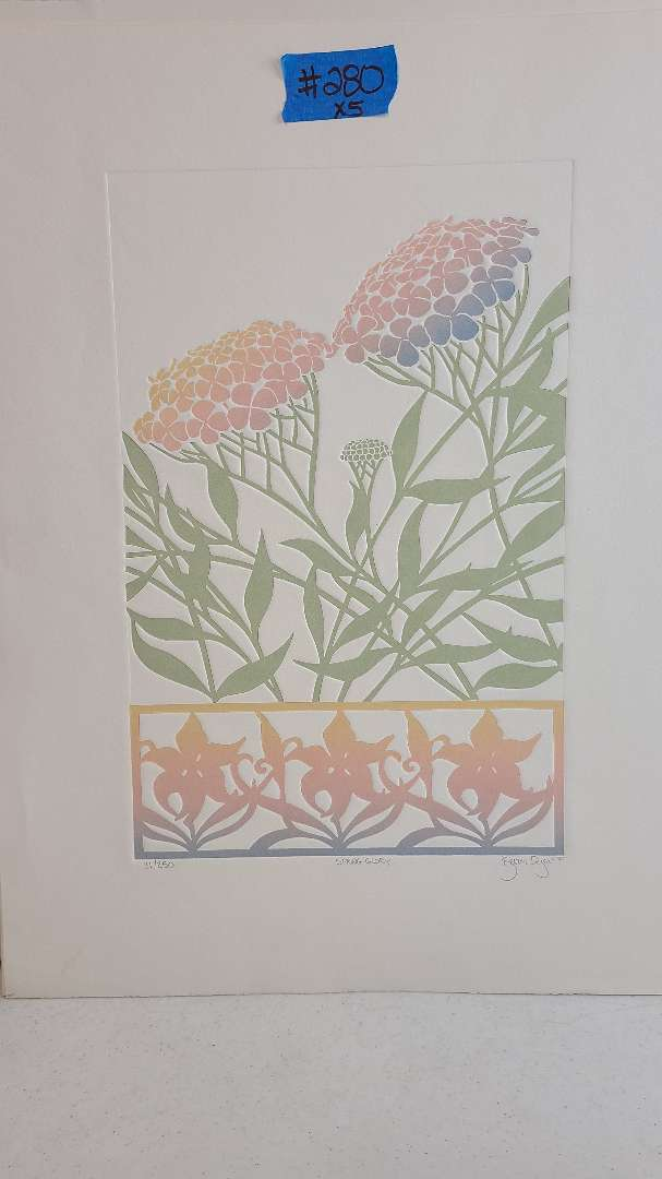 Lot # 280 Signed & Numbered Floral Lithograph
