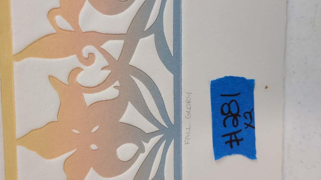 Lot # 281 Signed & Numbered Floral Lithograph