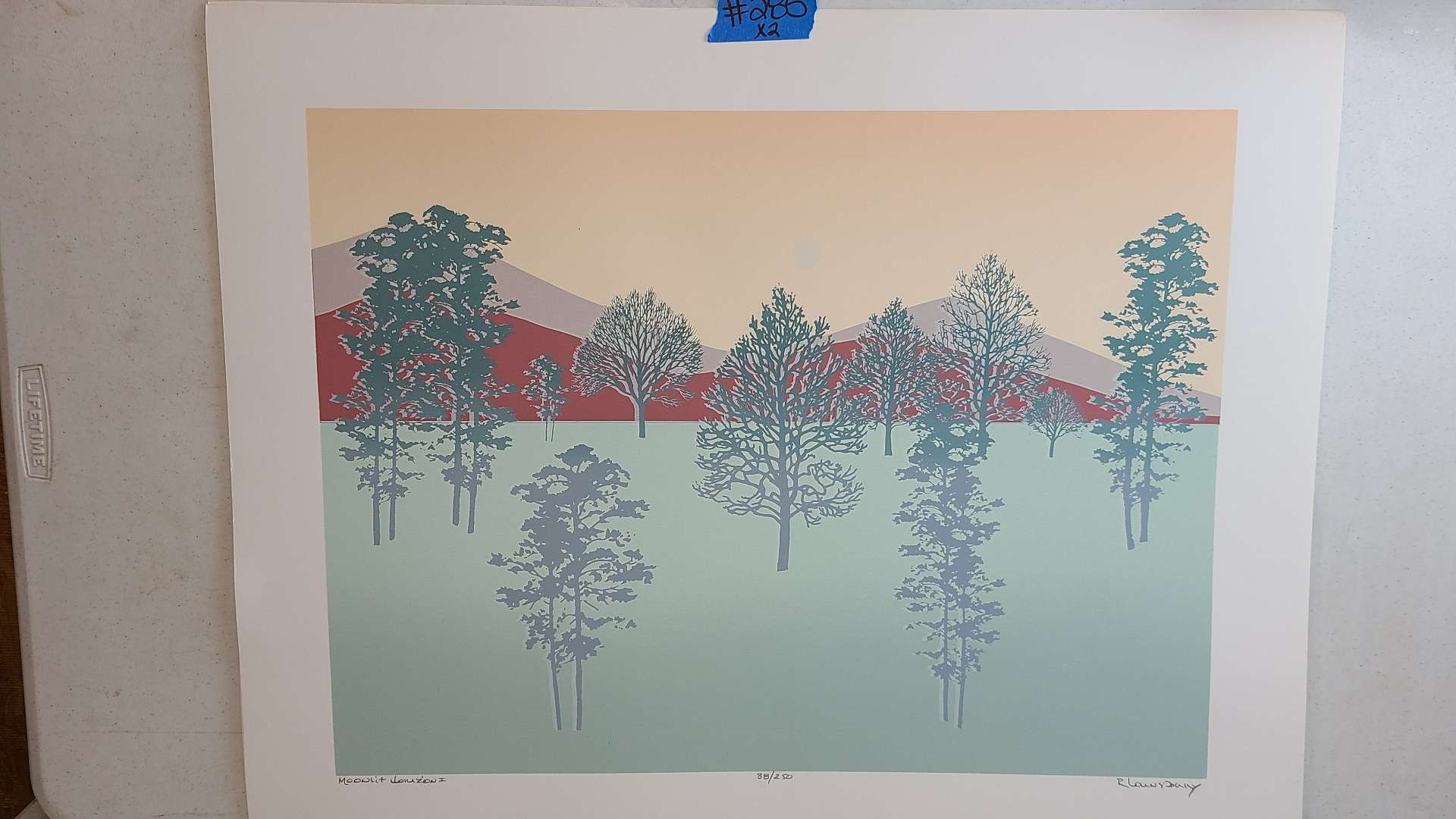 """Lot # 285 """"Moonlight Horizion I"""" By R. Lounsbury Signed & Numbered Lithograph"""