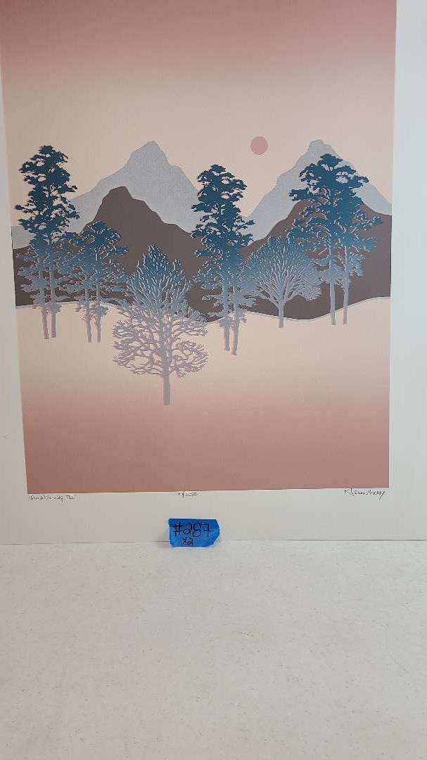 """Lot # 287 """"WindSong III"""" By R. Lounsbury Signed & Numbered Lithograph"""