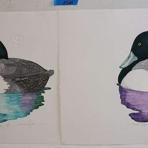 Auction Thumbnail for: Lot # 290 Lot of 2 Duck Inspired Signed & Numbered Lithographs
