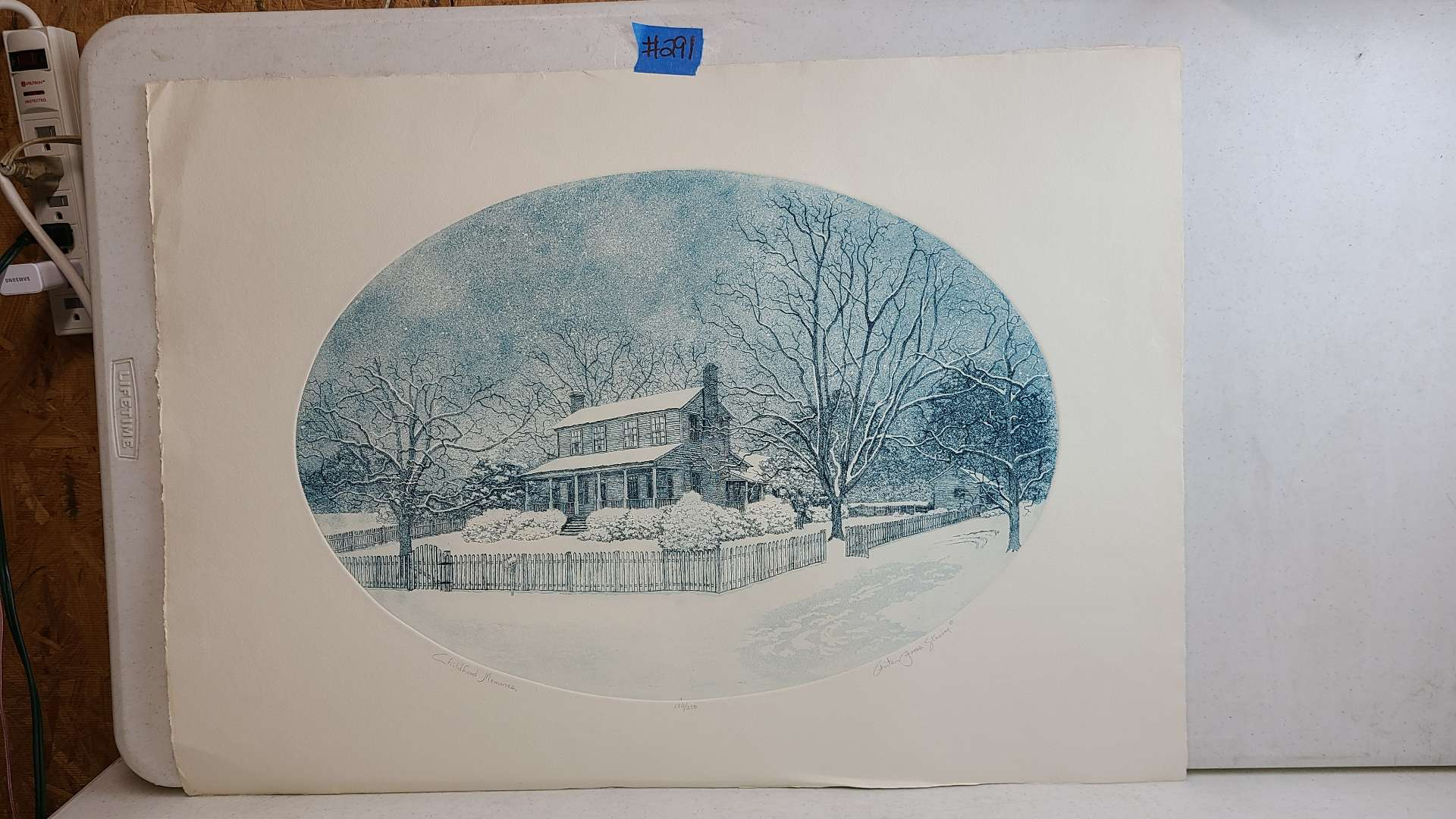 """Lot # 291 """"Childhood Memories"""" Signed & Numbered Lithograph"""