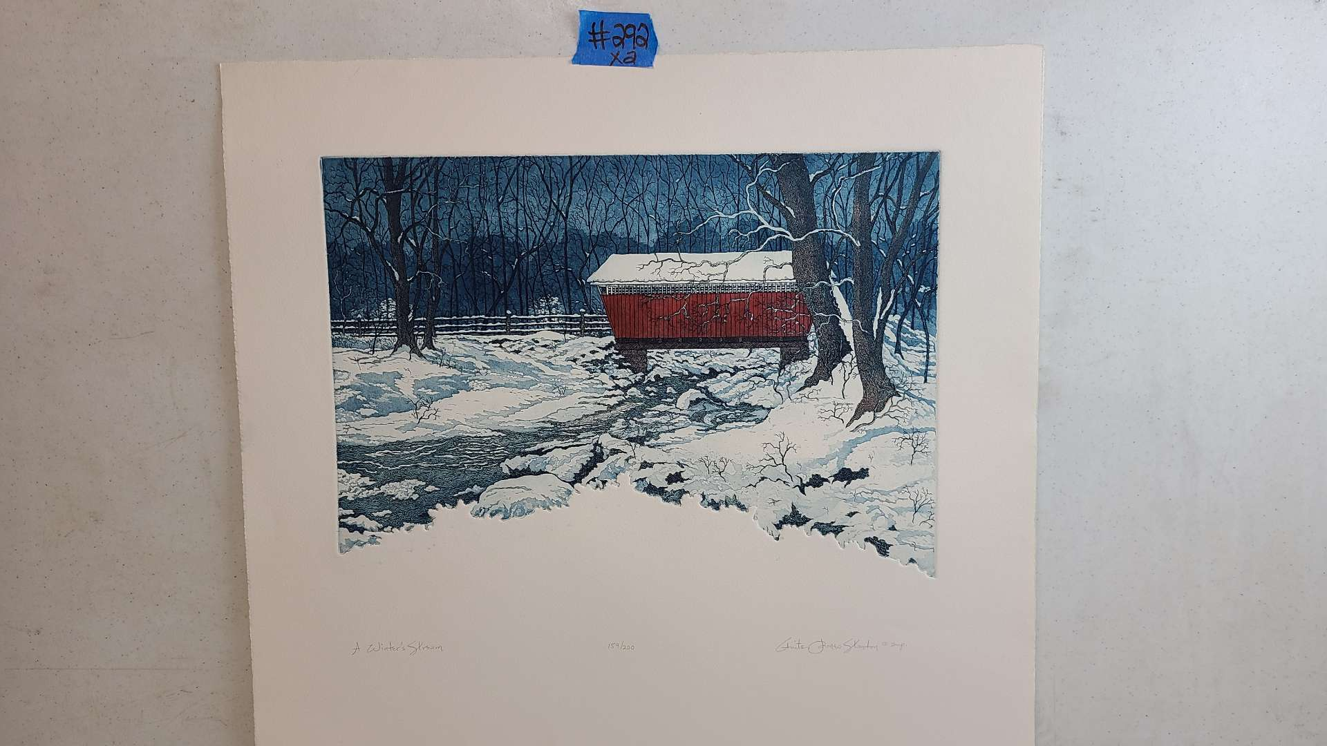 """Lot # 292 """"Winter's Stream"""" Signed & Numbered Lithograph"""