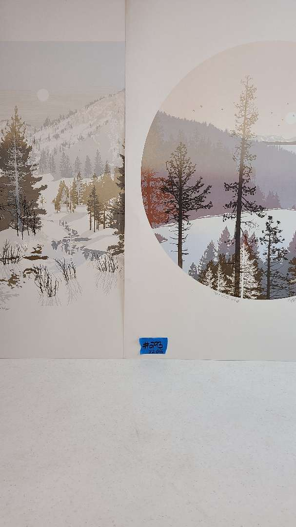 Lot # 293 Lot of 2 Nature Inspired Signed & Numbered Lithographs