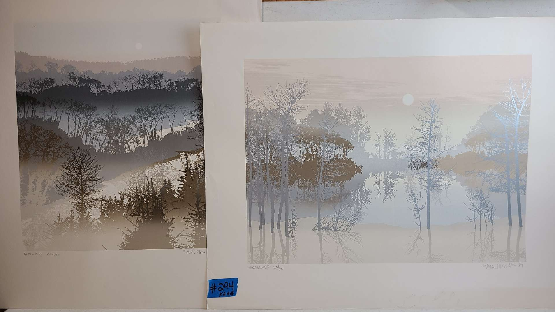Lot # 294 Lot of 2 Nature Inspired Signed & Numbered Lithographs