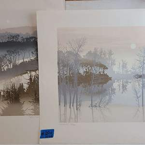 Auction Thumbnail for: Lot # 294 Lot of 2 Nature Inspired Signed & Numbered Lithographs