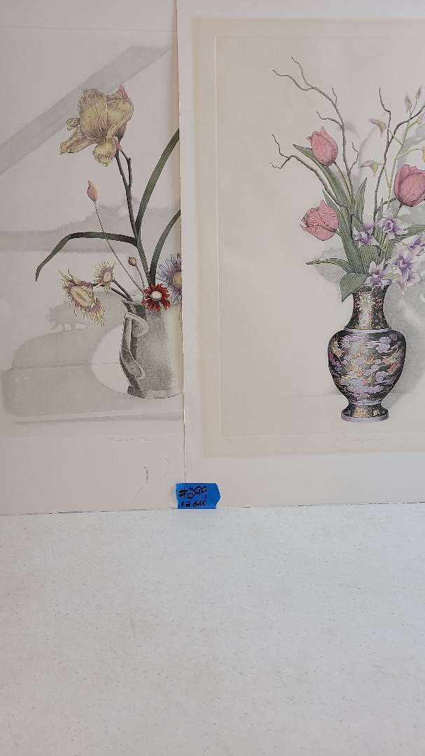 Lot # 299 Lot of 2 Floral Inspired Signed & Numbered Lithographs