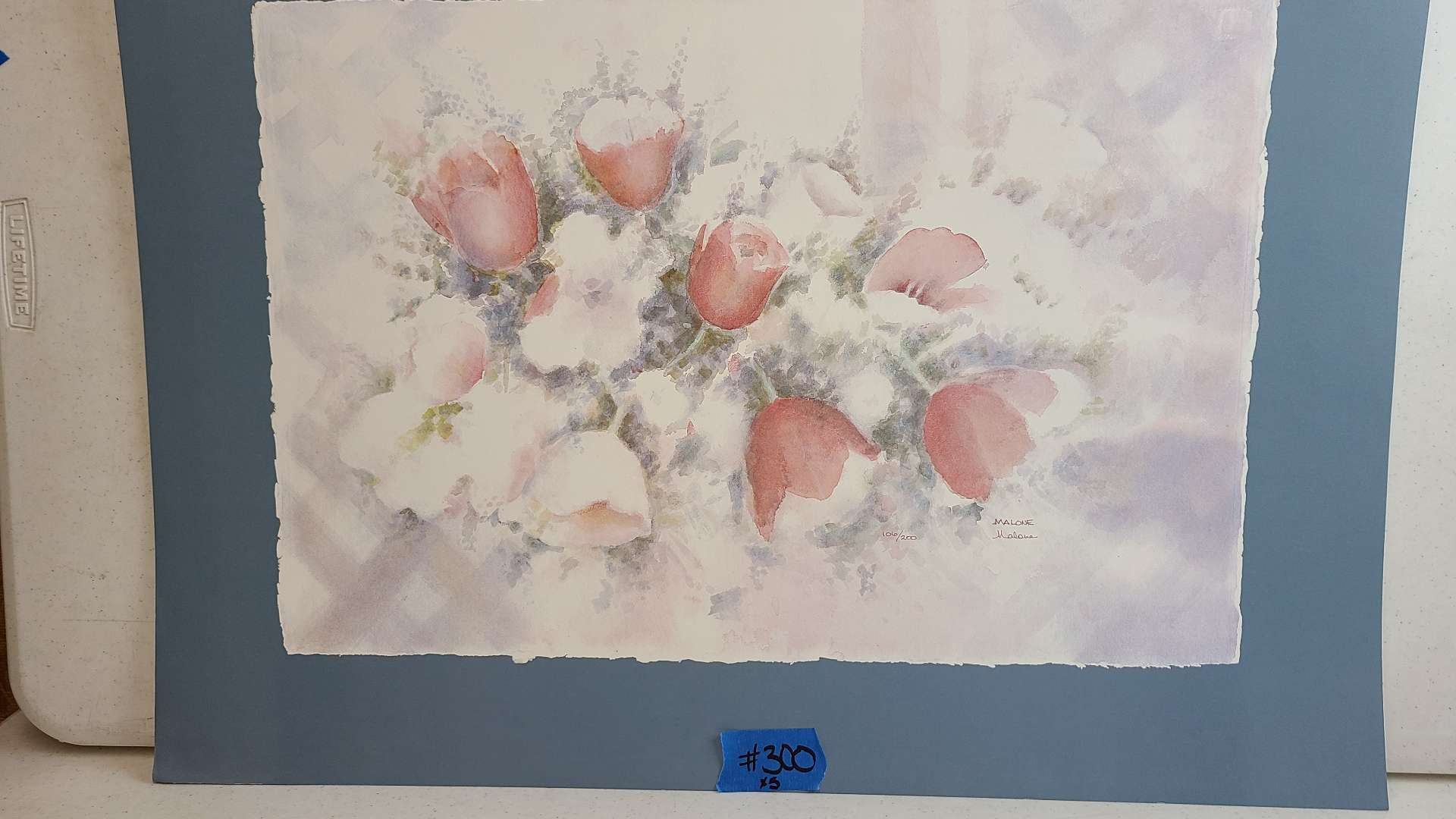 Lot # 300 Floral Inspired Signed & Numbered Lithograph