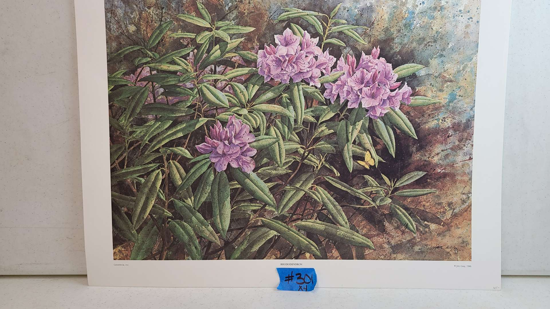 Lot # 301 Floral Inspired Signed & Numbered Lithographs (X4)