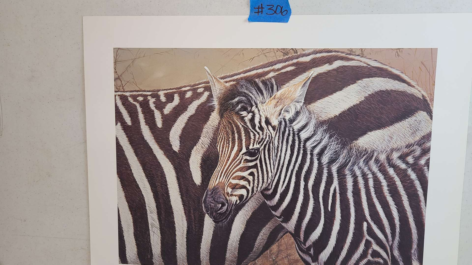 """Lot # 306 """"Serengeti Child"""" By Alan Hunt Limited Edition Signed & Numbered Lithograph"""