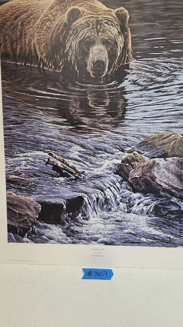 """Lot # 307 """"Coolin Off"""" by Alan Hunt Limited Edition Lithograph"""