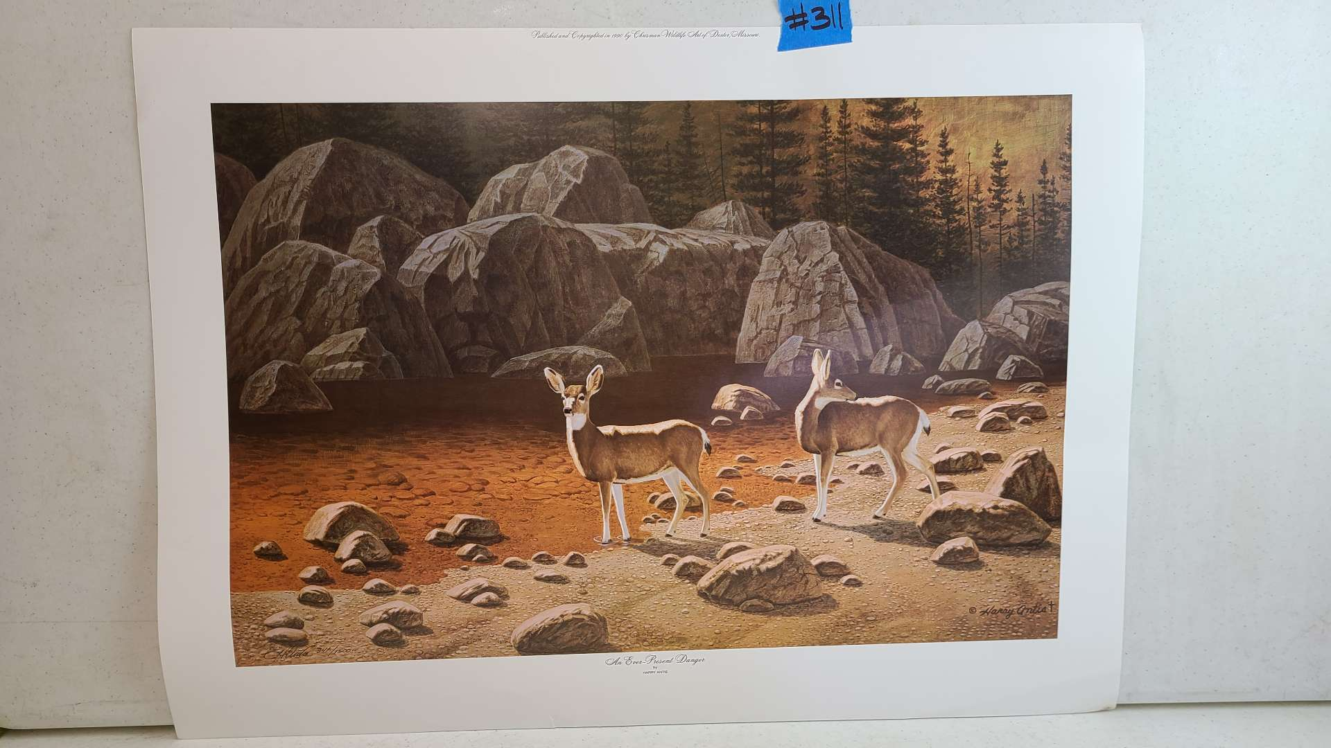 Lot # 311 Lithograph An Ever Present Danger By Harry Antis