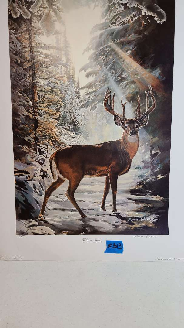 Lot # 313 Lithograph To Pause Again by Marion Anderson signed and numbered