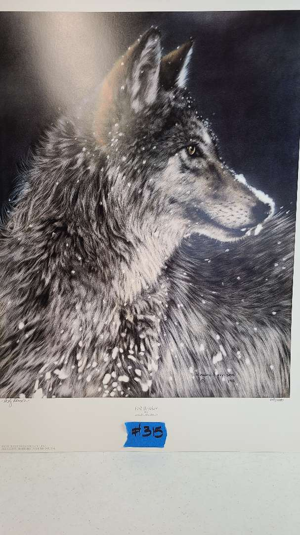 Lot # 315 Lithograph Full Brother By Leslie Harrison Signed and numbered