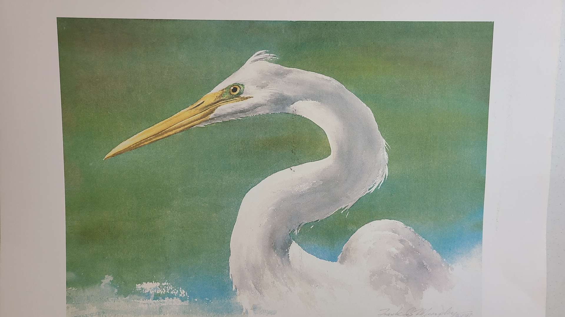 Lot # 318 Print of Eye Of The Beholder By Frank C Murphy Signed