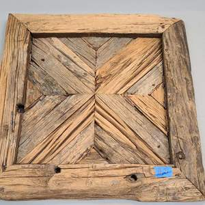 Auction Thumbnail for: Lot # 21 Adorable Rustic Wood Hanging Art