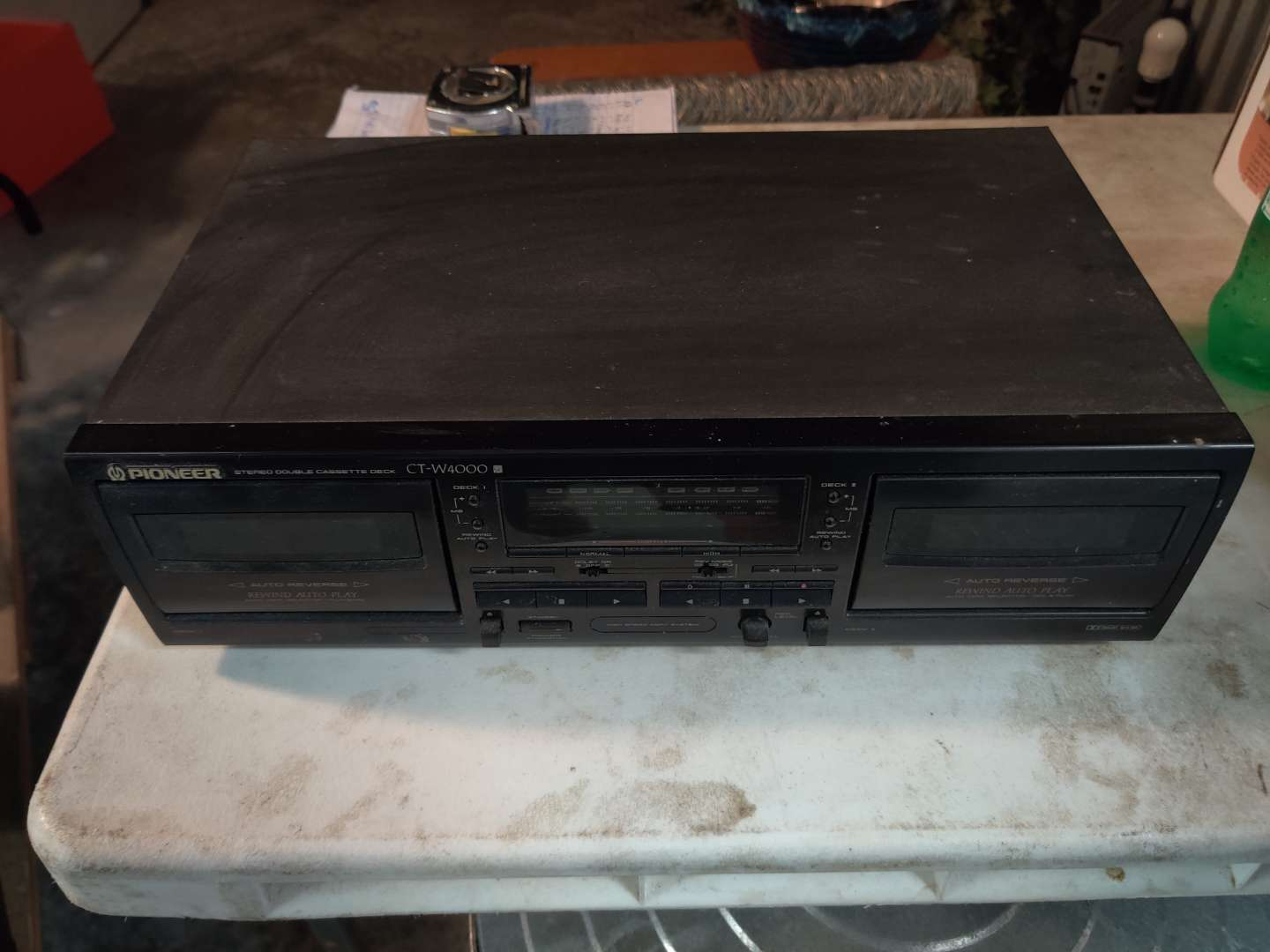 # 85 pioneer dual cassette player ct-w4000 works great