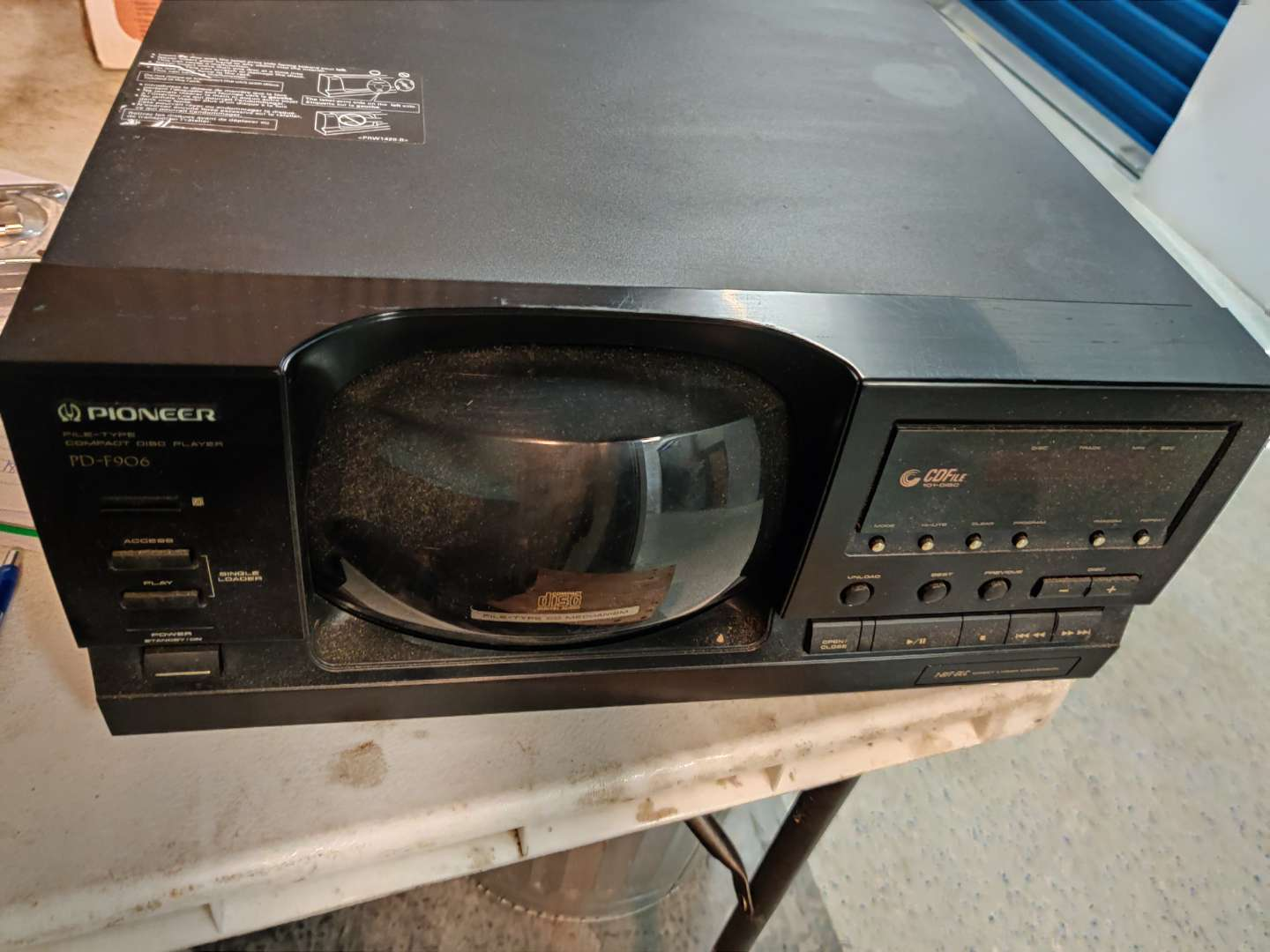 # 87 pioneer 101 disc holder CD player PD f 906