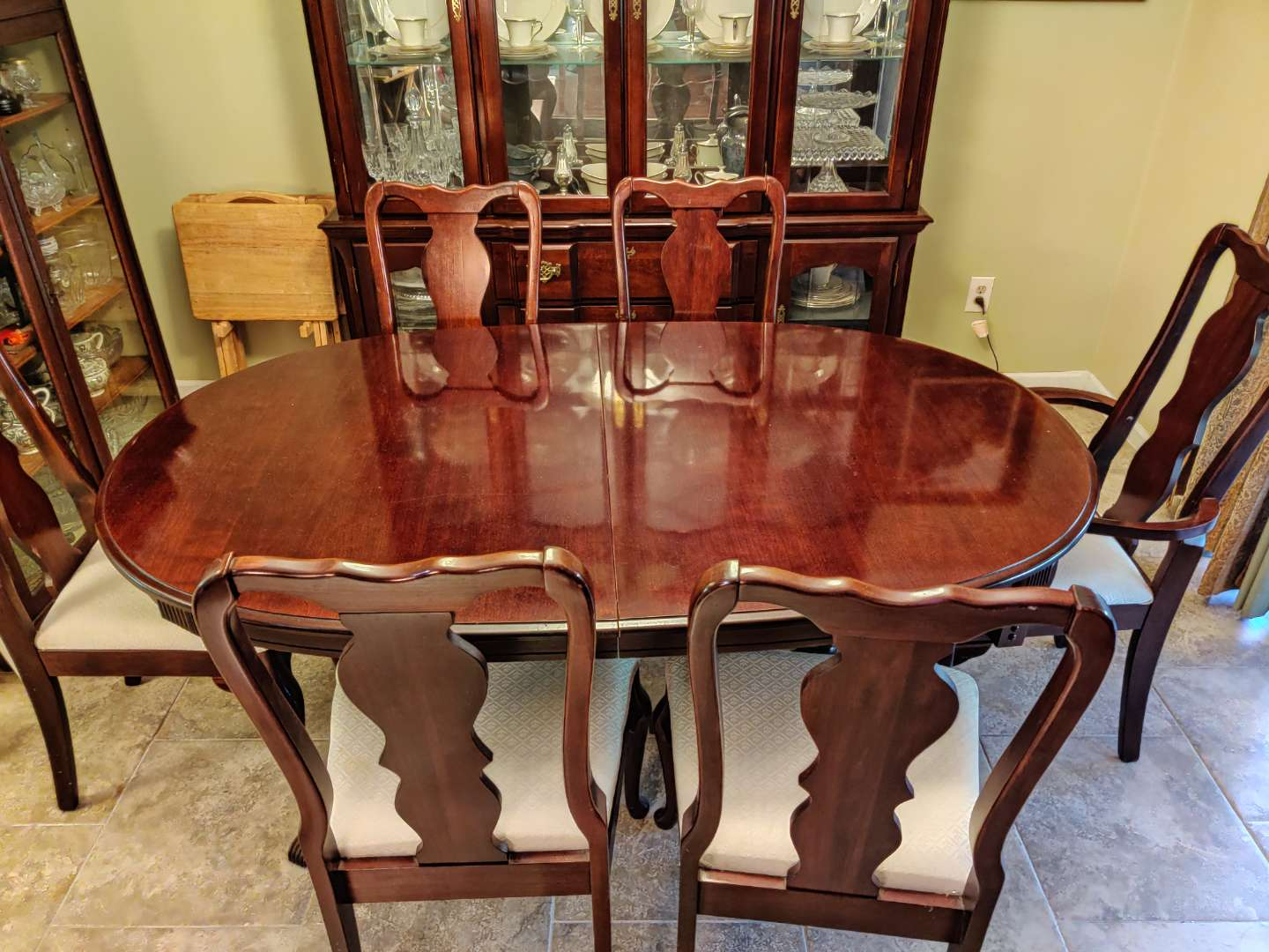 # 112 table and six chairs chairs are made by singer furniture