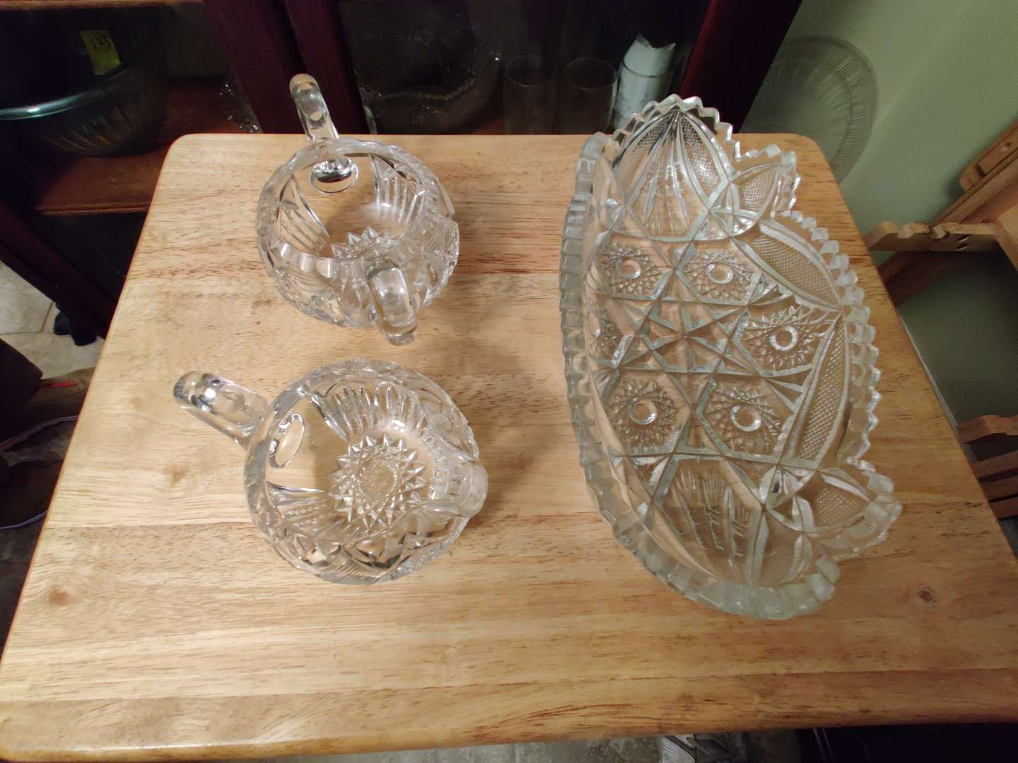 # 124 three pieces of cut glass