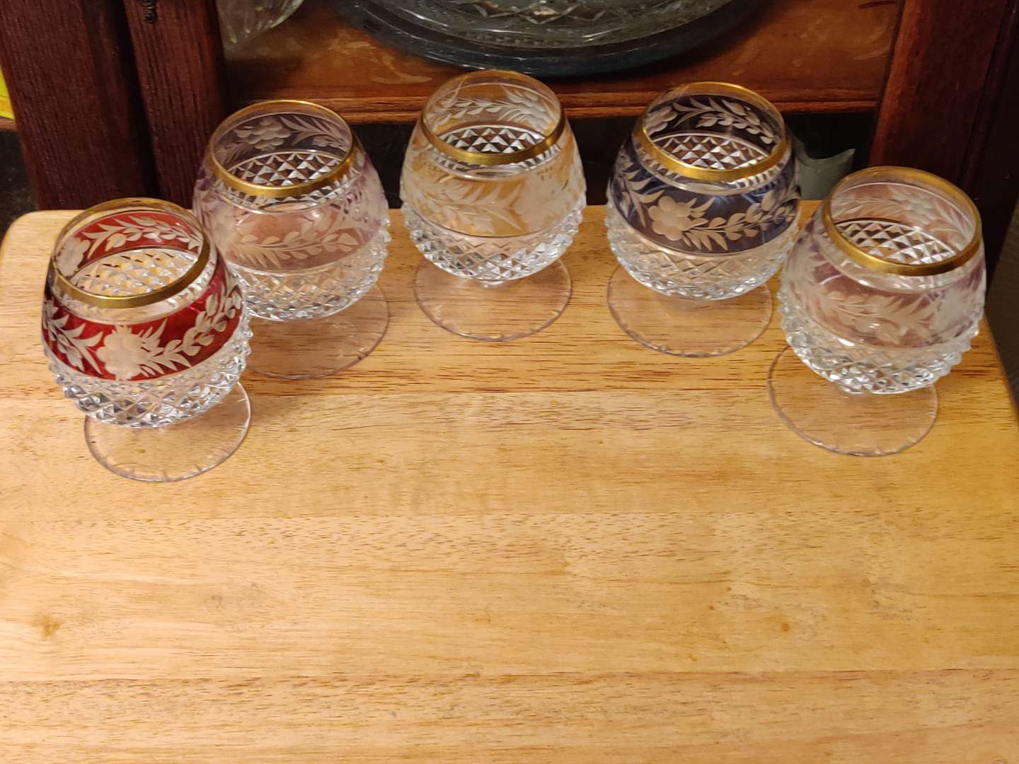 # 127 five cut to clear glasses Crystal 4 in tall