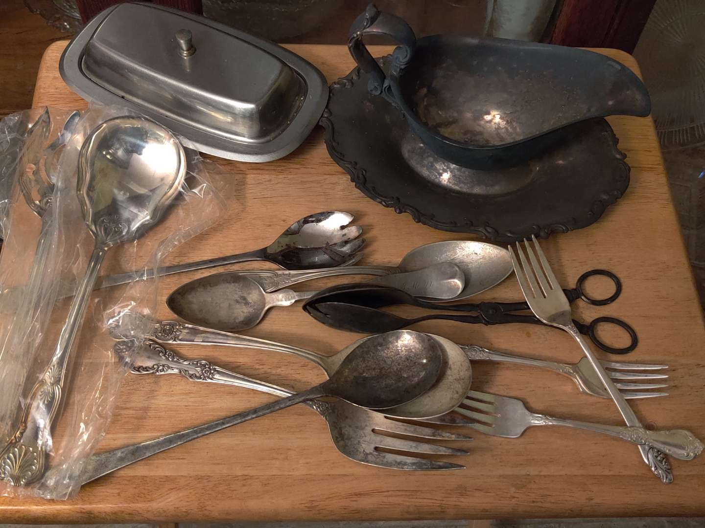 # 135 lot of silver plate miscellaneous pieces